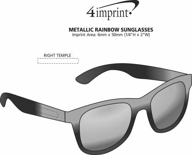 Imprint Area of Metallic Rainbow Sunglasses