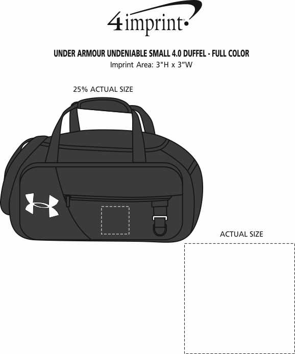 Imprint Area of Under Armour Undeniable Small 4.0 Duffel - Full Colour