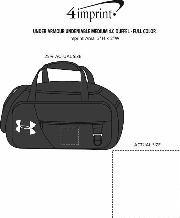 Imprint Area of Under Armour Undeniable Medium 4.0 Duffel - Full Colour