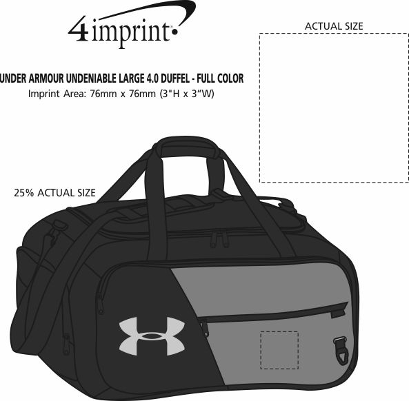 Imprint Area of Under Armour Undeniable Large 4.0 Duffel - Full Colour