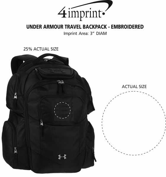 Imprint Area of Under Armour Travel Backpack - Embroidered