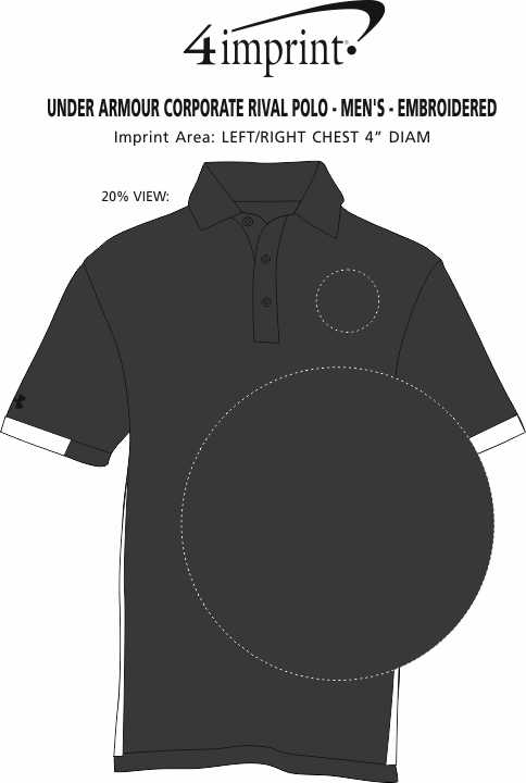 Imprint Area of Under Armour Corporate Rival Polo - Men's - Embroidered