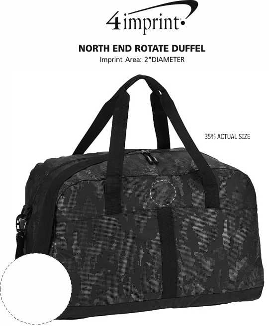 Imprint Area of North End Rotate Duffel