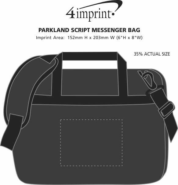 Imprint Area of Parkland Script Messenger Bag