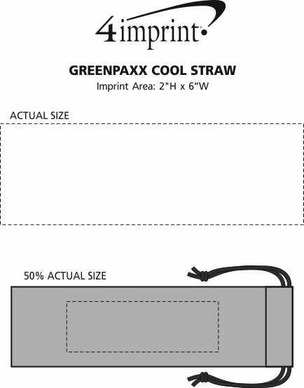 Imprint Area of GreenPaxx Tie-Dye Straw