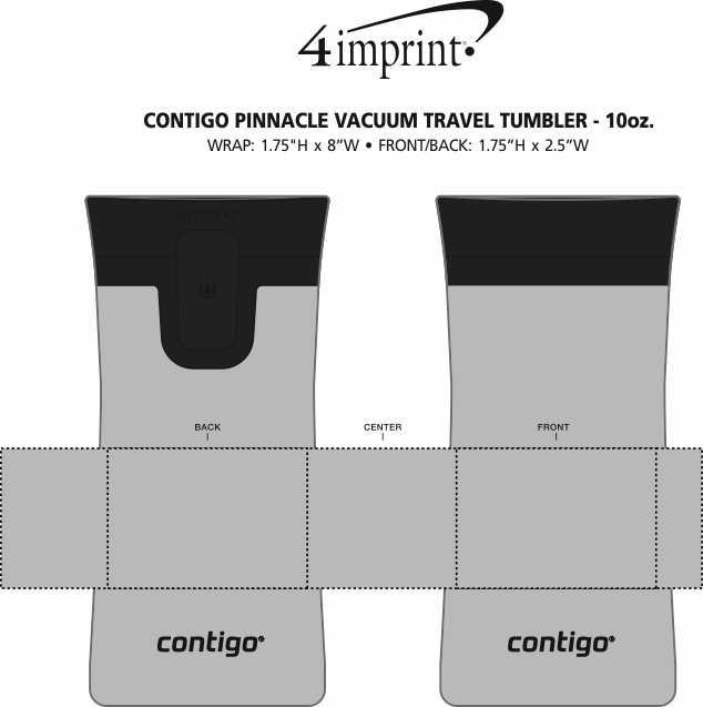 Imprint Area of Contigo Pinnacle Vacuum Travel Tumbler - 10 oz.