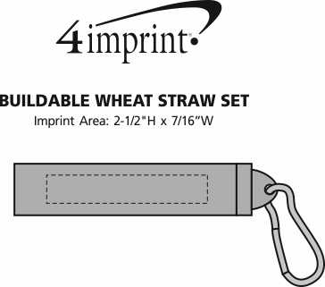 Imprint Area of Buildable Plastic Straw Set