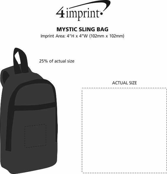 Imprint Area of Mystic Sling Bag
