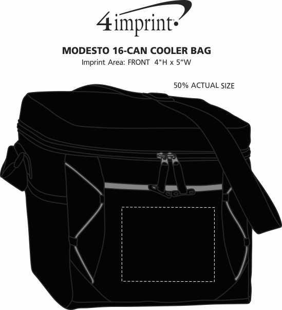 Imprint Area of Modesto 16-Can Cooler Bag