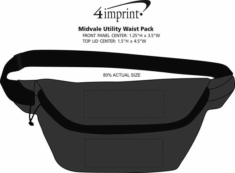 Imprint Area of Midvale Utility Waist Pack