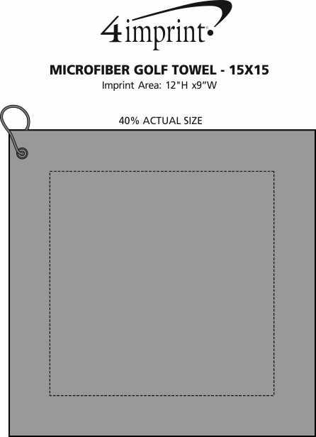 Imprint Area of Microfibre Golf Towel - 15x15