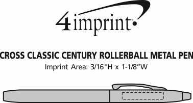 Imprint Area of Cross Classic Century Rollerball Metal Pen