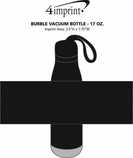 Imprint Area of Burble Vacuum Bottle - 17 oz.