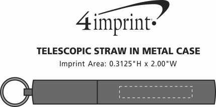 Imprint Area of Telescopic Straw in Metal Case
