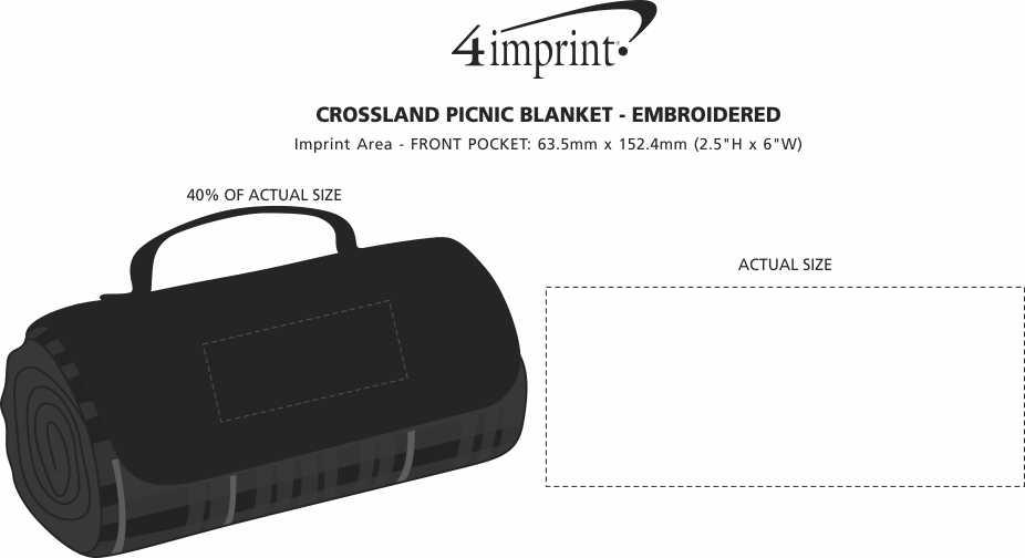 Imprint Area of Crossland Picnic Blanket - Screen