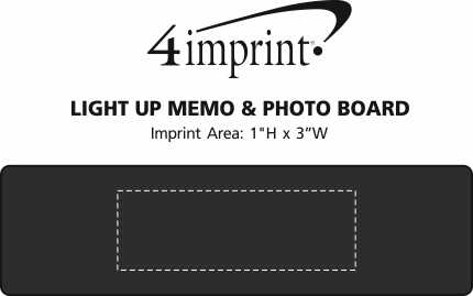 Imprint Area of Light-Up Memo & Photo Board