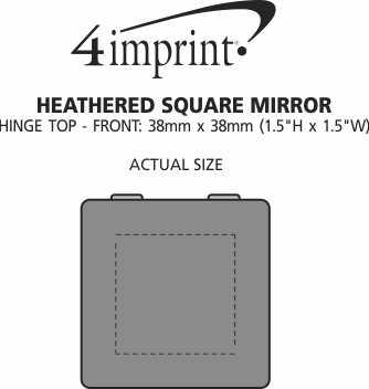 Imprint Area of Heathered Square Mirror