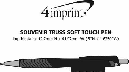 Imprint Area of Souvenir Truss Soft Touch Pen