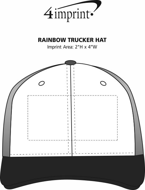 Imprint Area of Rainbow Trucker Hat