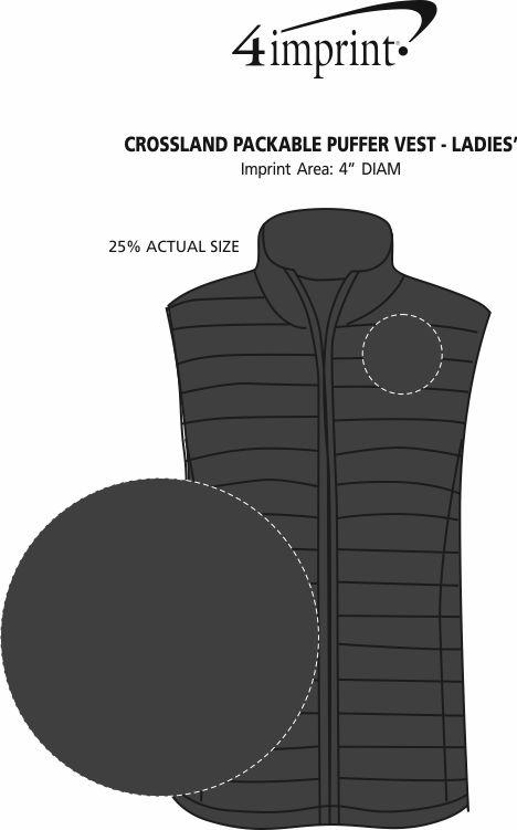 Imprint Area of Crossland Packable Puffer Vest - Ladies'