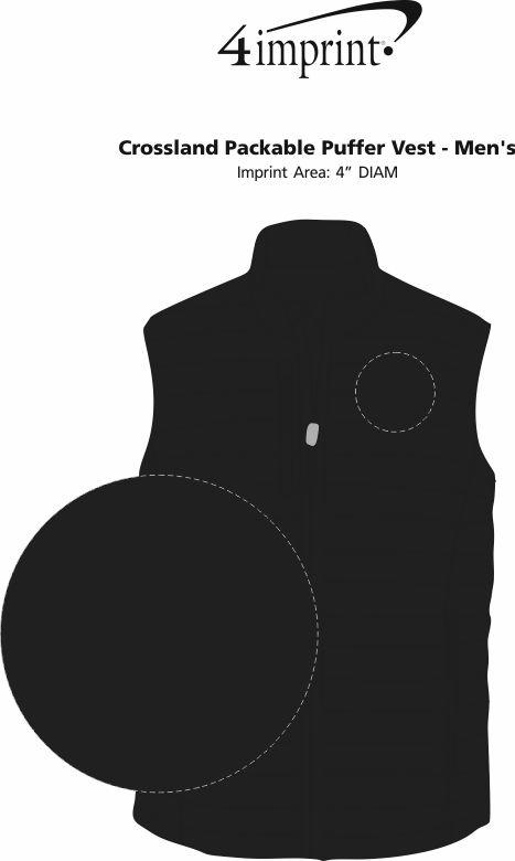 Imprint Area of Crossland Packable Puffer Vest - Men's