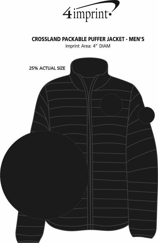 Imprint Area of Crossland Packable Puffer Jacket - Men's