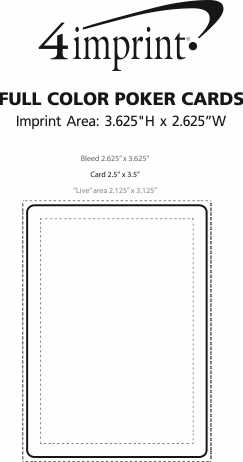 Imprint Area of Playing Cards