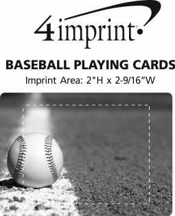 Imprint Area of Baseball Playing Cards