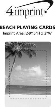 Imprint Area of Beach Playing Cards