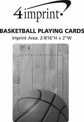Imprint Area of Basketball Playing Cards