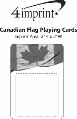 Imprint Area of Canadian Flag Playing Cards