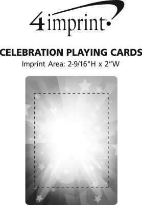 Imprint Area of Celebration Playing Cards