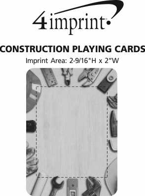 Imprint Area of Construction Playing Cards