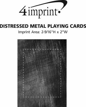 Imprint Area of Distressed Metal Playing Cards