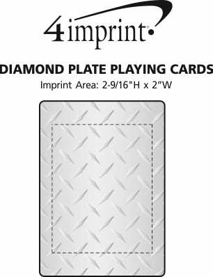 Imprint Area of Diamond Plate Playing Cards