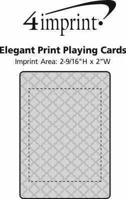 Imprint Area of Elegant Print Playing Cards