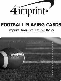 Imprint Area of Football Playing Cards