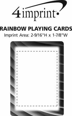 Imprint Area of Rainbow Playing Cards
