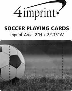 Imprint Area of Soccer Playing Cards