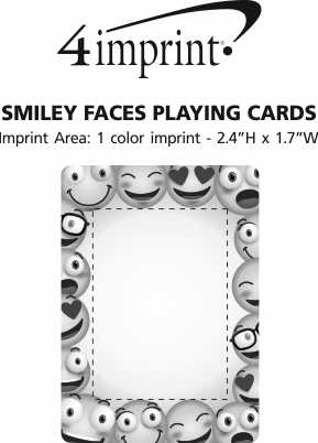 Imprint Area of Smiley Faces Playing Cards