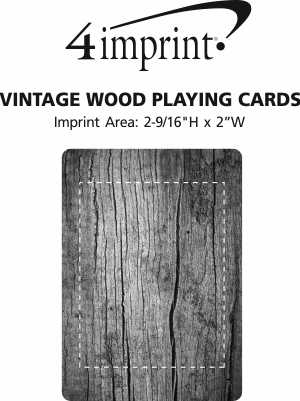 Imprint Area of Vintage Wood Playing Cards