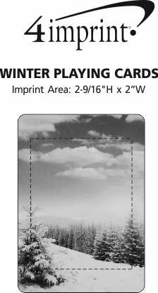 Imprint Area of Winter Playing Cards