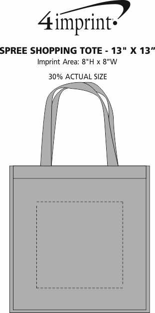 """Imprint Area of Spree Shopping Tote - 13"""" x 13"""""""