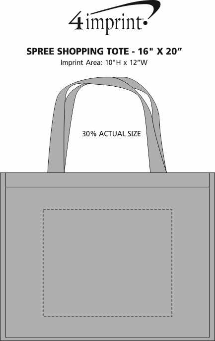 "Imprint Area of Spree Shopping Tote - 16"" x 20"""