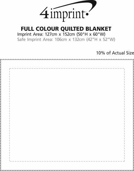 Imprint Area of Full Colour Quilted Blanket