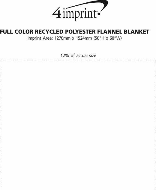Imprint Area of Full Colour Recycled Polyester Flannel Blanket