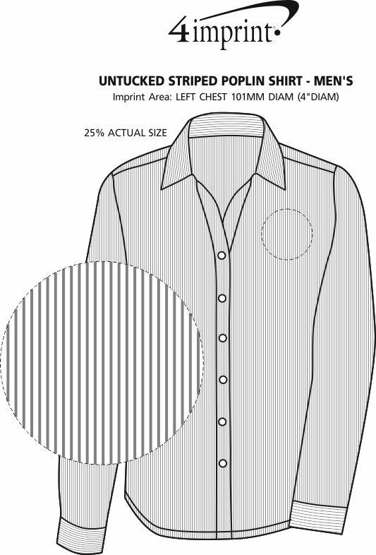 Imprint Area of Untucked Striped Poplin Shirt - Men's