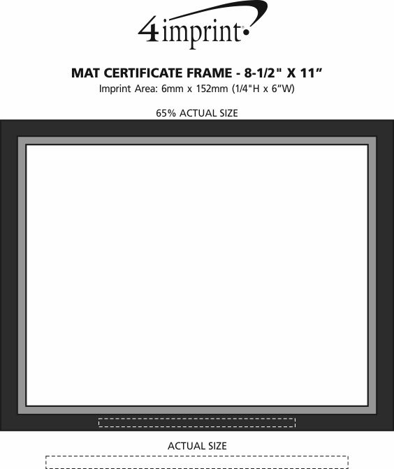 "Imprint Area of Mat Certificate Frame - 8-1/2"" x 11"""