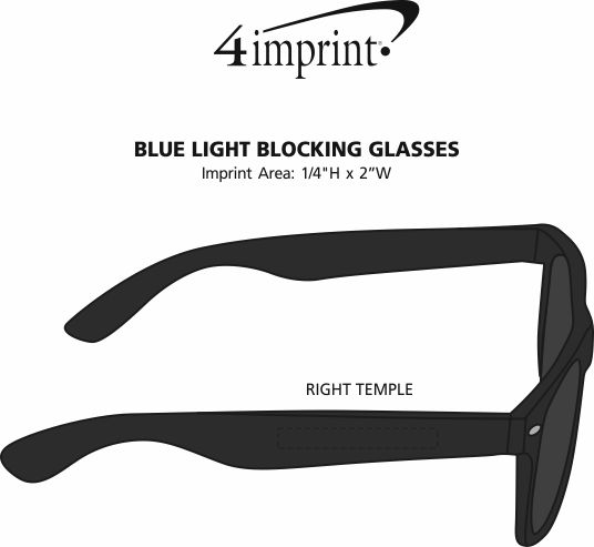 Imprint Area of Blue Light Blocking Glasses
