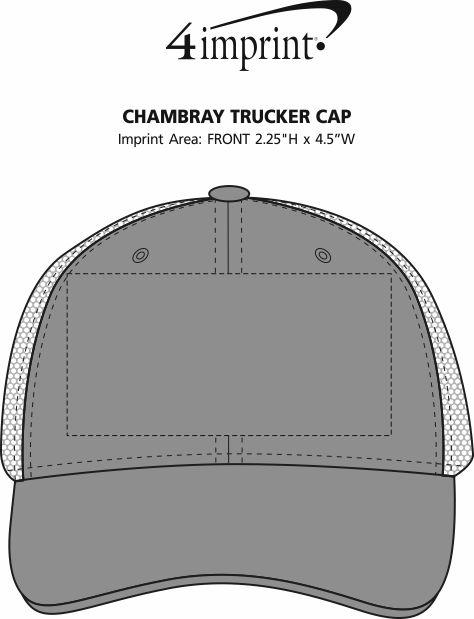 Imprint Area of Chambray Trucker Cap